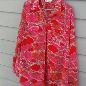 Kim Rogers long sleeve blouse size large